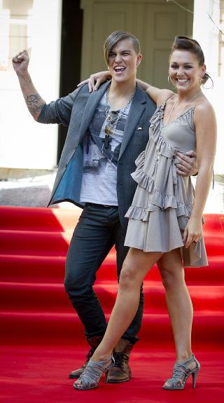X-factor-danser: Artist Atle Pettersen og Marianne Sandaker .  Foto: Bj�rn Langsem / Dagbladet.