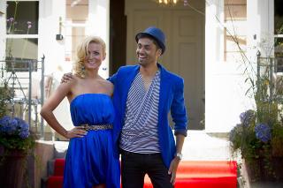 Bl� danser: Noman Mubashir og Nadya Khamitskaya .  Foto: Bj�rn Langsem / Dagbladet.