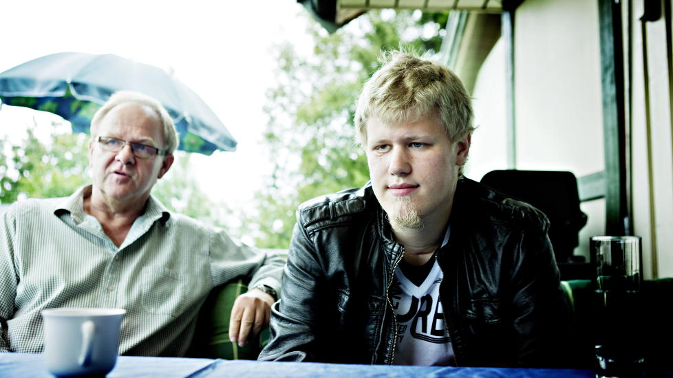 OVERLEVDE: Glenn Martin Waldenstr�m her fotografert sammen med sin far Runar Gravdal, da Dagbladet intervjuet ham i fjor sommer. Foto: Nina Hansen/Dagbladet