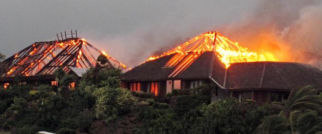Brann p� �ya til Richard Branson i Karibia