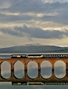 Strekningen minner om en alminnelig norsk jernbanetras�