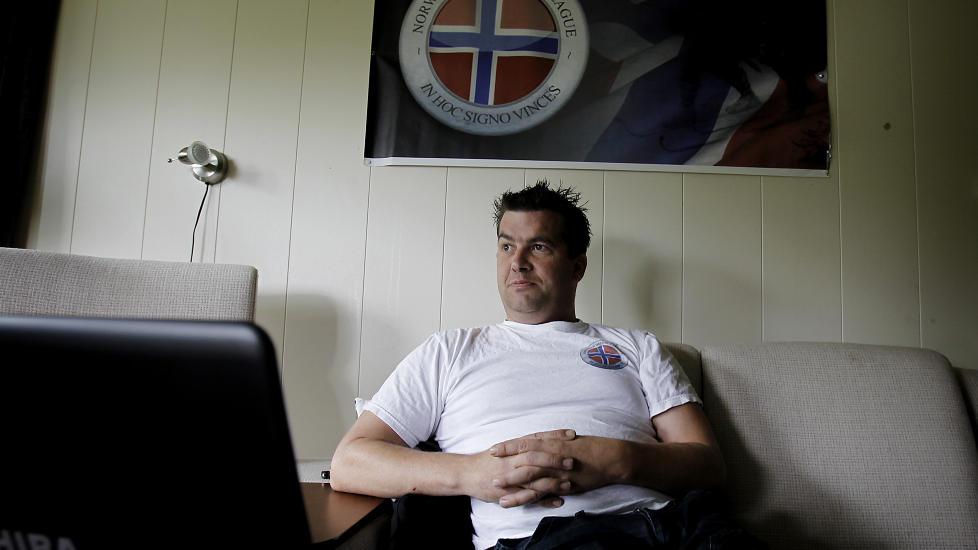 JOBBER FULLTID MED NORWEGIAN DEFENCE LEAGUE: Ronny Alte mener Groruddalen i Oslo kan komme under islamistkontroll. Han leder det han kaller en grasrotorganisasjon med medlemmer over hele landet. Foto: ERLING H�GELAND/Dagbladet