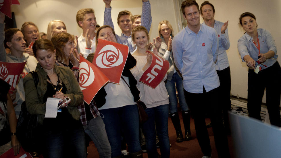 STORESLEM: AUF-leder Eskil Pedersen er veldig forn�yd med skolevalgresultatet.  Foto: Anita Arntzen/Dagbladet