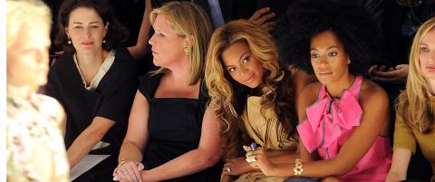 Beyoncé skjulte babymagen på første rad