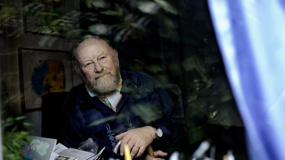 SKULLE DREPES I OSLO:  PST fryktet at den danske karikaturtegneren Kurt Westergaard skulle bli drept under et arrangement på Litteraturhuset i Oslo tirsdag denne uka. Foto: AP Photo/Peter Hove Olsen, POLFOTO