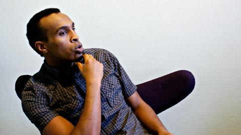 FIKK EN STOR SJANSE: - Jeg vet at jeg fikk en stor sjanse. En av de st�rste mulighetene et menneske kan f�. S� �dela jeg alt, sier Abdi (25). Foto: GUNNAR THORENFELDT/DAGBLADET