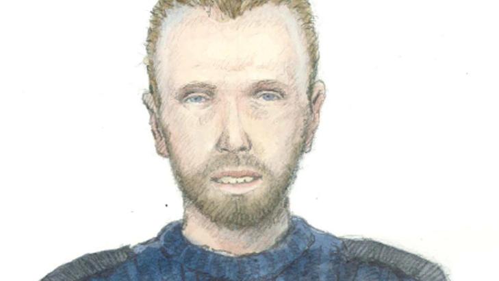 GJENGANGER: Ei 18 �r gammel jente ble voldtatt i et skogholt ved Hellerudveien i Oslo. Hun har beskrevet at gjerningsmannen er cirka 175 centimeter h�y, og skal v�re mellom 30 og 35 �r gammel. Mannen snakket Oslo-dialekt. Han har litt gule tenner, m�rkt blondt h�r str�ket bakover med gel�, viker i h�rfestet og helskjegg. Mannens DNA har n� gitt treff i politiets registre. Foto: Politiet