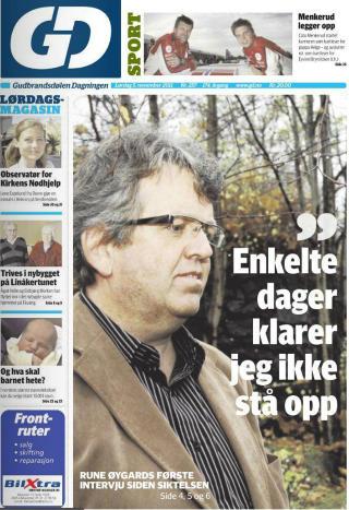 INTERVJUET: Gubrandsd�len Dagningen i dag.