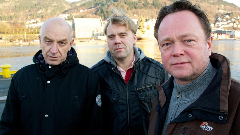 KLARE MED DOKUMENTAR: Odd Isungset, �ystein Bogen og Fredrik Gr�svik i TV2 har laget en dokumentarserie fra Afghanistan som de forventer debatt av. Foto: Alex Iversen/TV 2