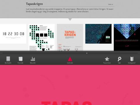 NAVIGARE NECCESSE EST: Katachis navigasjonsl�sninger er ikke som i andre iPad-magasiner.