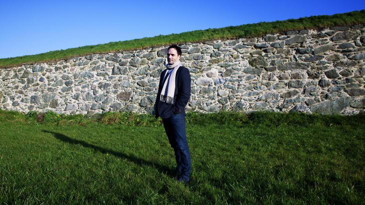 RETTERSTEDET: Her, p� denne gressplenen, ble Henry Oliver Rinnan henrettet 1. februar 1947. Forfatter �yvind Skarsem har funnet stedet ved hjelp av en tidligere politimann. Foto: Lars Myhren Holand
