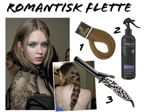 FLETTE: 1. Rapunzel hair extensions, kr 990. 2. Tresemme Heat defence spray, kr 90. 3. Remington Tribal curler, kr 349. Foto: Fashionactive og produsentene.