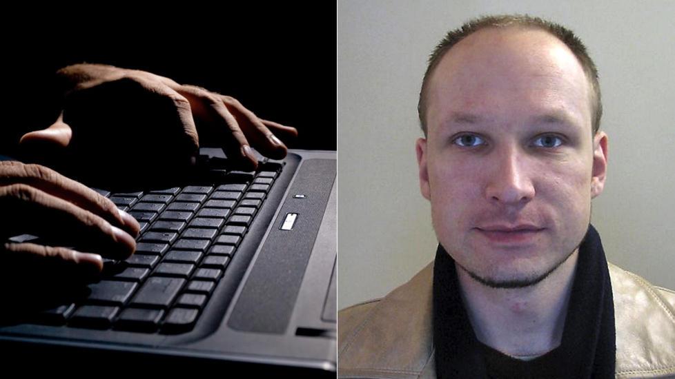 HACKET: Hackergruppa Noria hacket seg inn p� epost- og Twitter-kontoen til Anders Behring Breivik. Foto: Scanpix