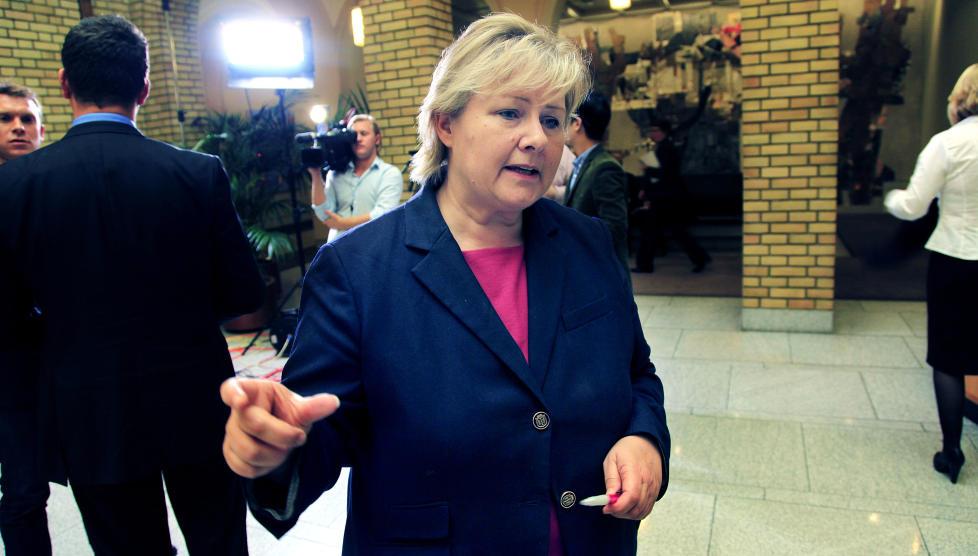 TI FORSLAG: Erna Solberg foresl�r i dag ti tiltak mot hat og ekstremisme. Foto: Jacques Hvistendahl