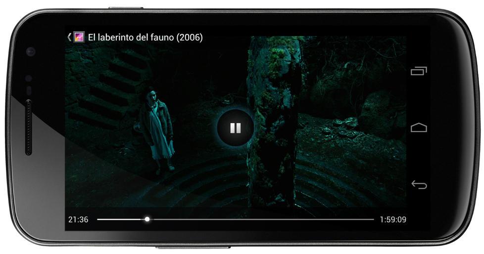 LOMMEKINO: Samsung Galaxy Nexus har en skjermoppl�sning p� 1280 x 720. Det gj�r den ypperlig til � se film p�.