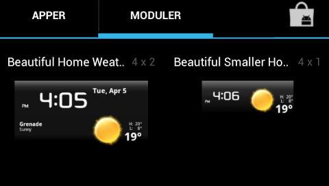 WIDGETS: Den nye modul-menyen viser mye bedre hvordan de forskjellige widgetsene egentlig ser ut.