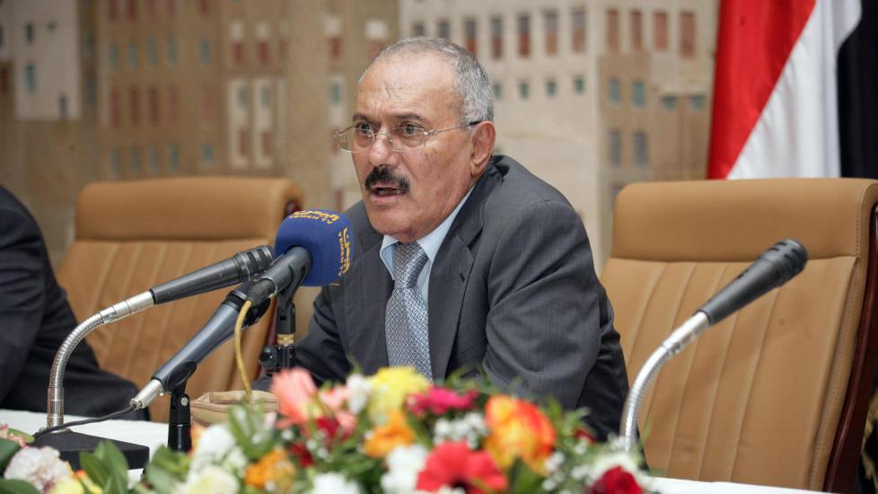 - HAR D�RLIG HELSE: Ali Abdullah Saleh skal fortsatt v�re kraftig preget av en eksplosjon i juni. Foto: Reuters/Scanpix