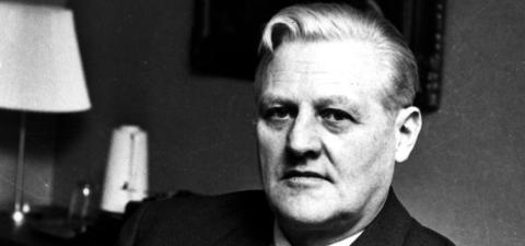 BESTEFAR:  Jurist, statsminister og utenriksminister John Lyng (1905-1978) er bestefar til nyoppnevnt Behring Breivik-dommer Arne Lyng. John Lyng var i sin juskarriere blant annet aktor i rettsoppgj�ret etter andre verdenskrig mot Henry Oliver Rinnan og hans bande. Arkivoto: NTB/Scanpix.