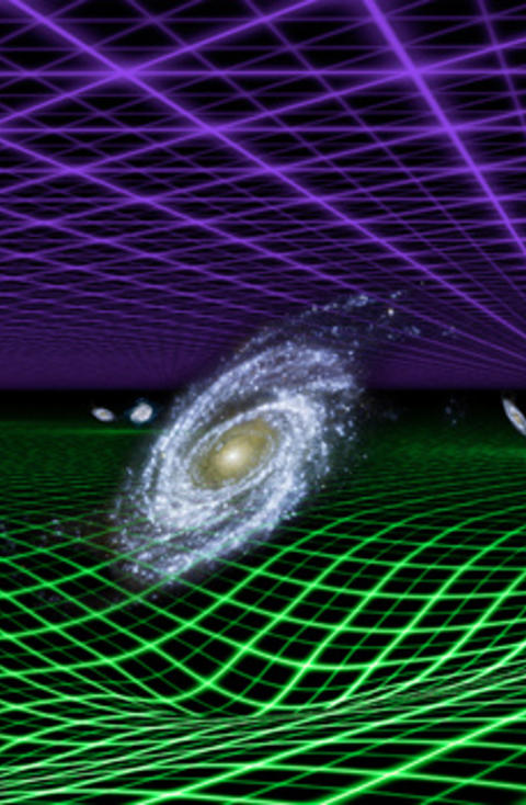 M�RKT OG MYSTISK: Det er mye forskere veit om universet, men enda mer er helt ukjent. Den s�kalte m�rke energien, som utgj�r 70 prosent av innholdet i universet, er et av de st�rste mysteriene. Prosjektet WiggleZ har kommet med viktige bidrag i l�pet av �ret, noe som gir det en vel fortjent sjuendeplass. Grafikk: NASA/JPL-Caltech