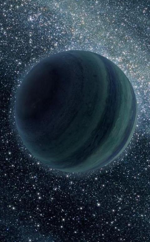 PLANET P� R�MMEN: Det kan finnes flere hundre milliarder Jupiter-liknende planeter som driver ensomt og alene rundt i Melkeveien, uten noe solsystem den kan kalle et hjem. Som tr�st f�r de sjetteplass i k�ringen av �rets beste astronyheter. Grafikk: NASA/JPL-Caltech