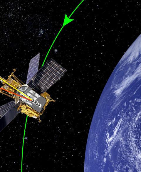EINSTEINS VAFLER: I �r ble analysen av dataene fra sonden Gravity Probe B ferdiganalysert og Einsteins �vaffelr�reeffekt� bekreftet. En soleklar femteplass! Grafikk: einstein.stanford.edu