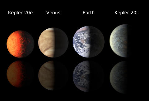 OG F�RSTEPLASSEN G�R TIL... Planetjeget og satellitt: Keplers formidable innsats i 2011 har gjort at sonden l�per inn til en f�rsteplass i k�ringen av �rets beste astronyheter. Et av hovedm�lenen sm�, steinete planeter som likner jorda, i akkurat passe avstand til moderstjernen slik at det kan finnes flytende vann. I desember annonserte teamet tre s�kalte eksoplaneter som var sv�rt lik jorda i st�rrelse. Disse er de minste som s� langt er funnet utenfor v�rt eget solsystem. Foto: AP Photo/Harvard-Smithsonian Center for Astrophysics/SCANPIX