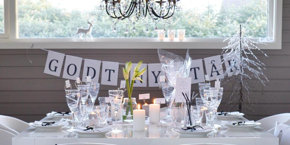 HAPPY NEW YEAR: Finn inspirasjon til vinterens flotteste festbord hos disse flinke interi�rbloggerne. FOTO: May Helen Kro/kronprinsessene.blogspot.com