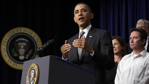 UTFORDRES:  Vinneren av den republikanse presidentvalgkampen skal utfordre Barak Obama i valgkampen i USA seinere i �r.