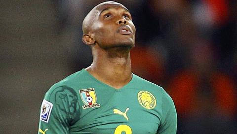 VERDENSSTJERNE: Samuel Eto'o er Anzjis stjernespiller, kameruneren kom fra italienske Inter. Foto: REUTERS/Jerry Lampen