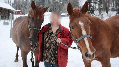 DØMT: Åsnes-kvinnen ble fradømt retten til å ha hund i Norge for alltid i 2010. Nå har hun flyttet til en gård i Jämtland, og har stadig nye valpekull. Her er hun avbildet på gården hun hadde i Åsnes i Hedmark. Foto: Kjell-Ivar Wålberg/Glåmdalen