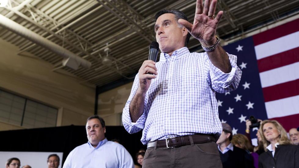 D�RLIG RYKTE: En seier for Mitt Romney kan endre europeeres syn p� USA igjen. Her er Romney i New Hampshire Foto: Johannes Wors�e Berg