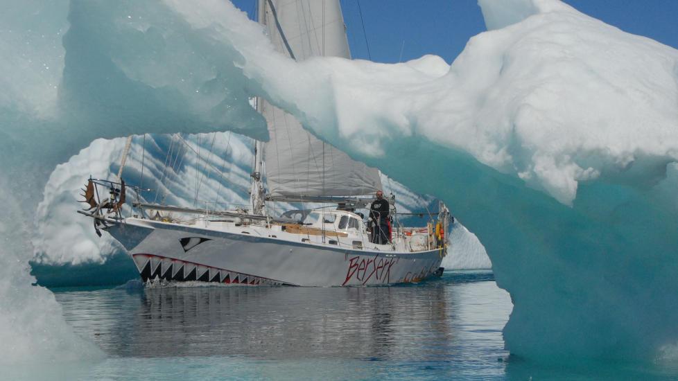 FORLISTE:  Berserk var på en ekspedisjon i Antarktis da den forliste. Foto: WildWikings/NRK