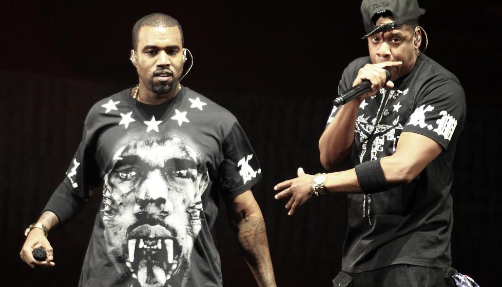 UTSATT: Kanye West og Jay-Zs samarbeidsplate �Watch the Throne� har solgt over 1,2 millioner eksemplarer bare i USA og gikk rett inn p� Billboards albumliste. Stjerneduoen skulle ta turen til Norge og Telenor Arena, men denne konserten er n� utsatt. Foto: Scanpix