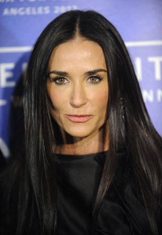 FLGES AV METTE-MARIT: Skuespiller Demi Moore. Foto: Phil McCarten/Reuters