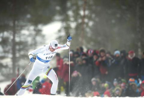 HADDE IKKE DAGEN: Petter Northug var med i tetkampen de f�rste kilometerne, men s� var det slutt. Til slutt endte han som nummer 40.  Foto: Marit Hommedal / Scanpix