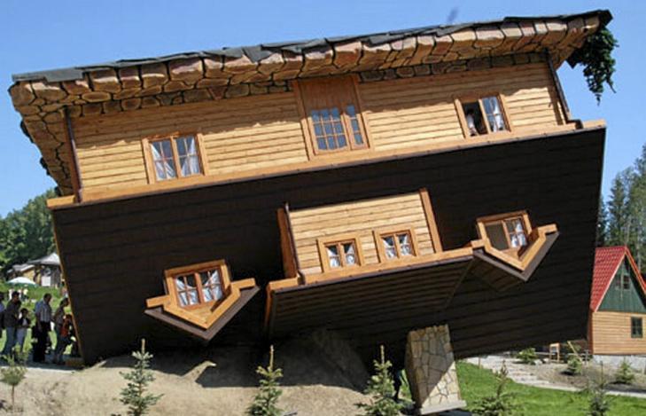 PUSSIG: Ikke akkurat huset som inviterer til grillfest p� terrassen. Men i�ynefallende er det jo... Foto: unusual-architecture.com
