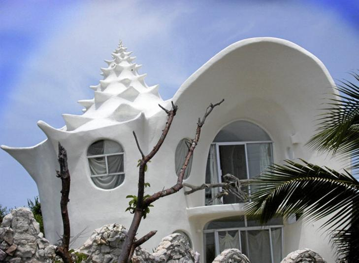 UVANLIG: The Conch Shell House er designet slik at det skal ligne en konkylie. Foto: unusual-architecture.com