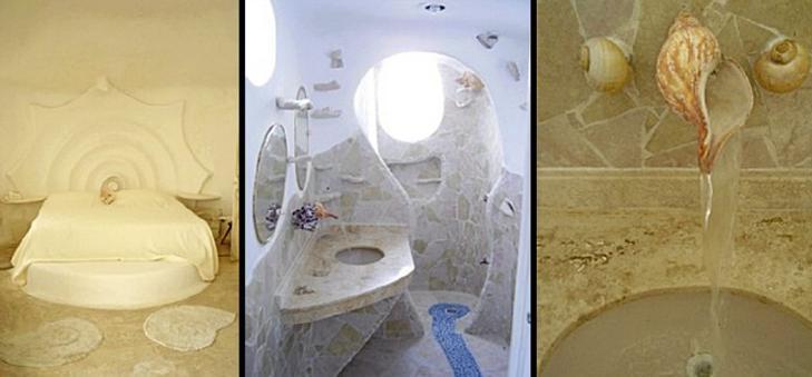 TIL LEIE: Du kan selv finne ut akkurat hvordan det føles å bo i The Conch Shell House. Foto: unusual-architecture.com