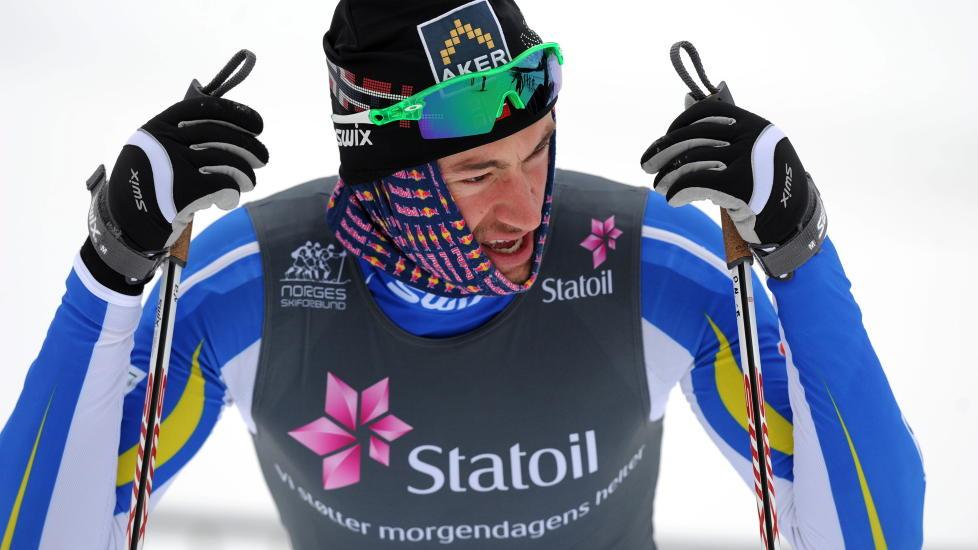 SL�TT UT: Petter Northug jr. ble sl�tt ut i prologen p� dagens sprint.    Foto: Ned Alley / Scanpix