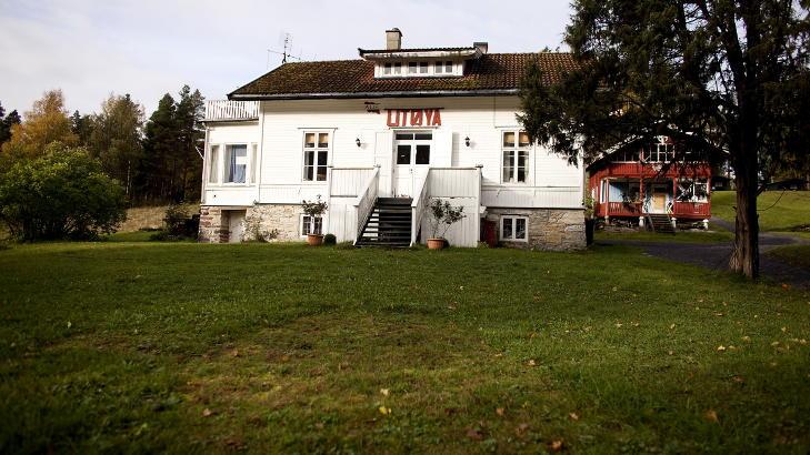 BLE PLASSERT HER: I andre etasje i resepsjonsbygget p� Ut�ya ble Breivik plassert etter at �ya var gjennoms�kt og sikkerhetsklarert. Foto: Espen R�st / Dagbladet