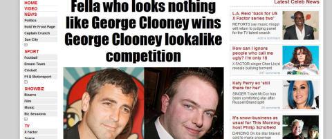 Er dette Clooneys dobbeltgjenger?