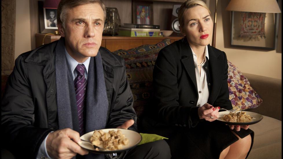 STILLE F�R STORMEN: Christoph Waltz og Kate Winslet spiller ektepar i �Blodig alvor�.