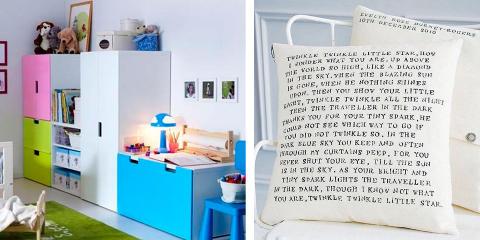 FORM OG FUNKSJON: Det er viktig å tenke både oppbevaring og organisjon når du innreder barnerommet. Her er det mange leker og klær som sloss om plassen. Foto: Produsent/Forhandler