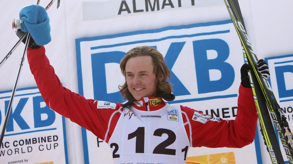 VANT- IGJEN:  Mikko Kokslien vant dagens kombinertrenn. Han vant ogs� rennet i l�rdag. Foto: AP Photo/Pavel Mikheyev
