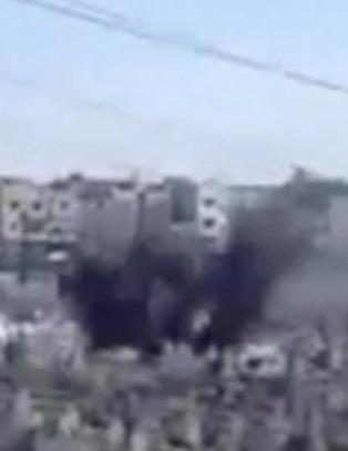 Her bombes kirkeg�rden i Homs