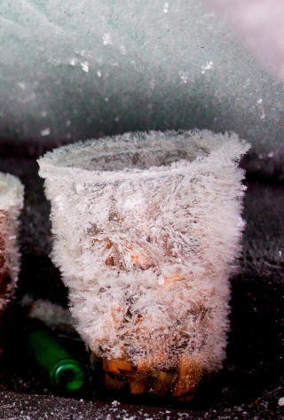 KALDT: Ifølge politiet har det vært så kaldt som 30 minusgrader i området der mannen ble funnet.  Foto: Erik Åström / Expressen