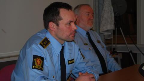 AVH�R: Politiadvokat Asbj�rn Onarheim og taktisk etterforskningsleder Carl Petter Leganger har ledet etterforskningen. Foto: Leif Stang