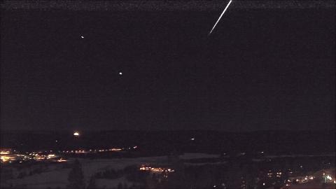 LYSTE OPP: Dette stillbildet er tatt fra en video fra et kamera som st�r i Oslo og er vendt nordvestover.