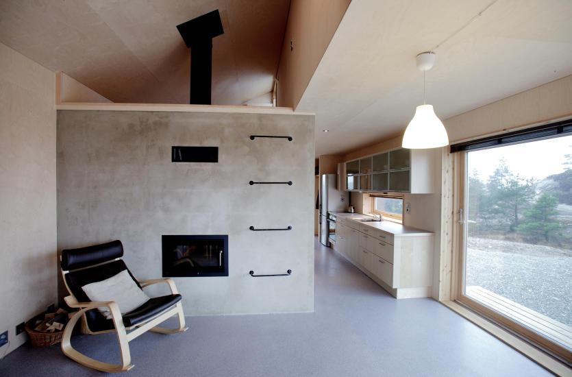 Smarte løsninger liten hytte
