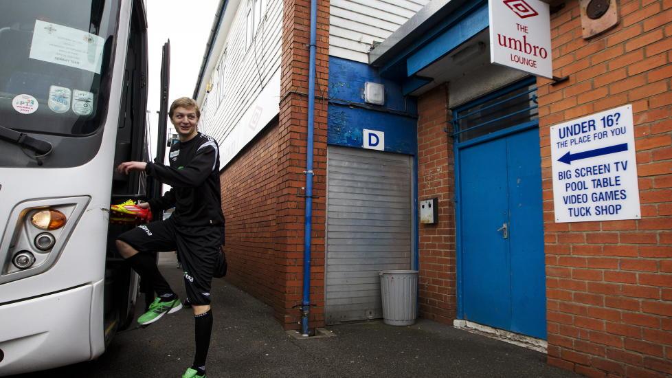 SCORET FOR BIRMINGHAM: Erik Huseklepp scoret da Birmingham spilte uavgjort mot Derby.  Foto: Erlend Aas / Scanpix